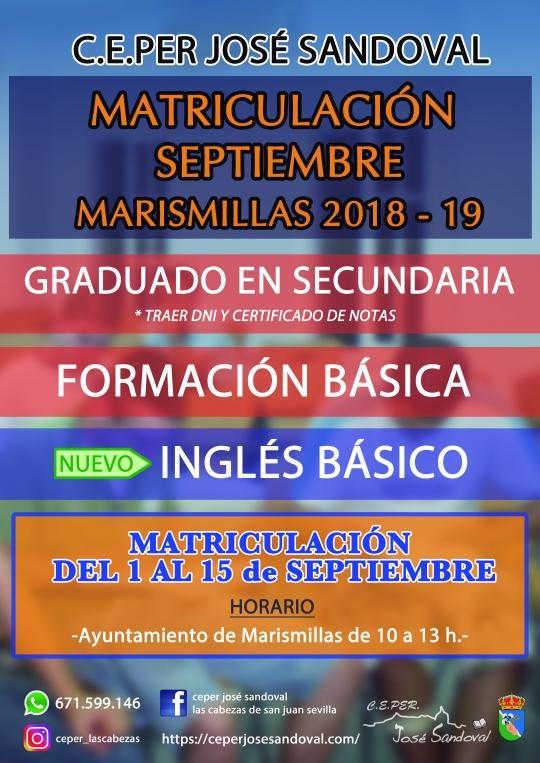Cartel Marismillas CEPER 2018-19 EXTRAORDINARIO